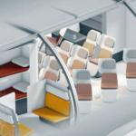 Posible modelo de cabina modulable de Airbus